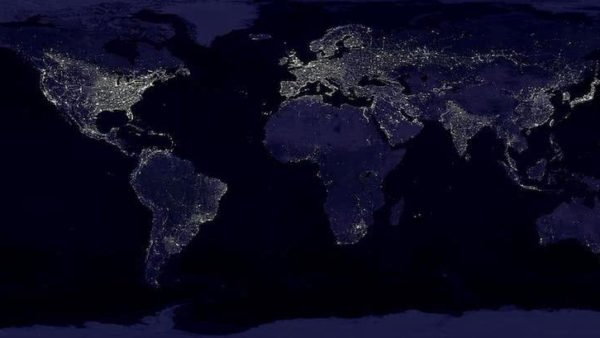 Source: NASA/NOAA Published: August 7, 2017 This composite image, which has become a popular poster, shows a global view of Earth at night, compiled from over 400 satellite images. NASA researchers have used these images of nighttime lights to study weather around urban areas.
