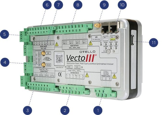 OTELLO Vecto III Class A Multifunction Power, Power Quality & Synchrophasor Analyser